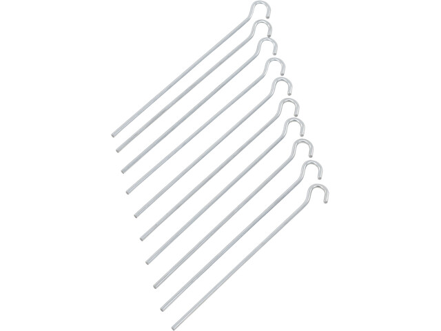 CAMPZ Steel Ground Peg 22cm Straight, silver